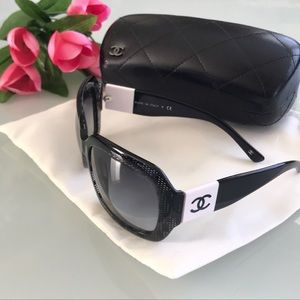 CHANEL Limited Edition Lace Effect Sunglasses